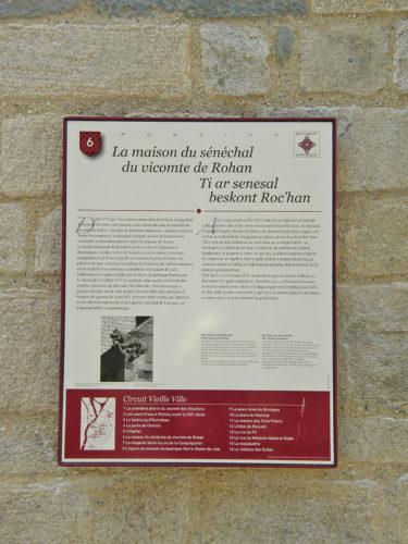 plaque-maison-senechal-vicomte-de-rohan
