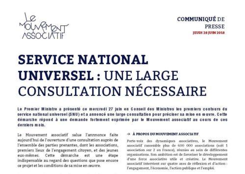 Service National Universel : une large consultation est nécessaire