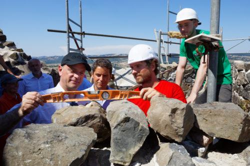 Visite ministérielle du chantier REMPART de Calmont dOlt