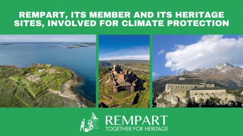 REMPART, its member and its heritage sites, involved for climate protection